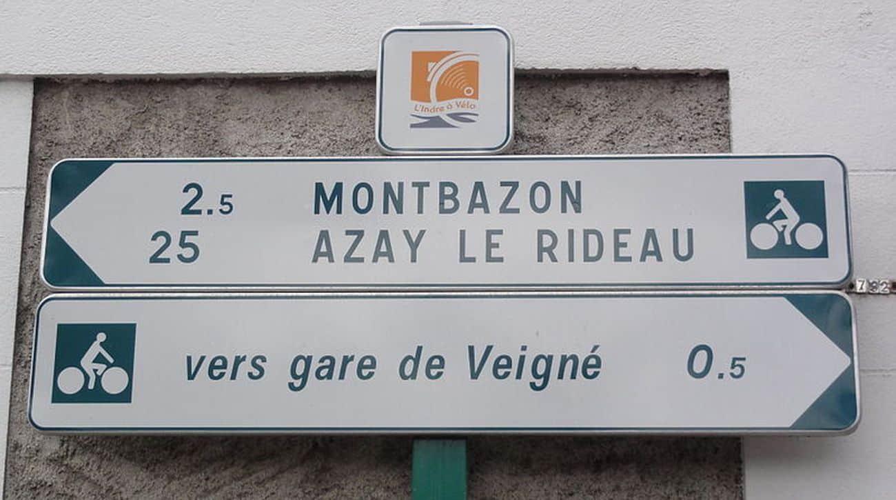 Panneau Loire A Vélo Tours
